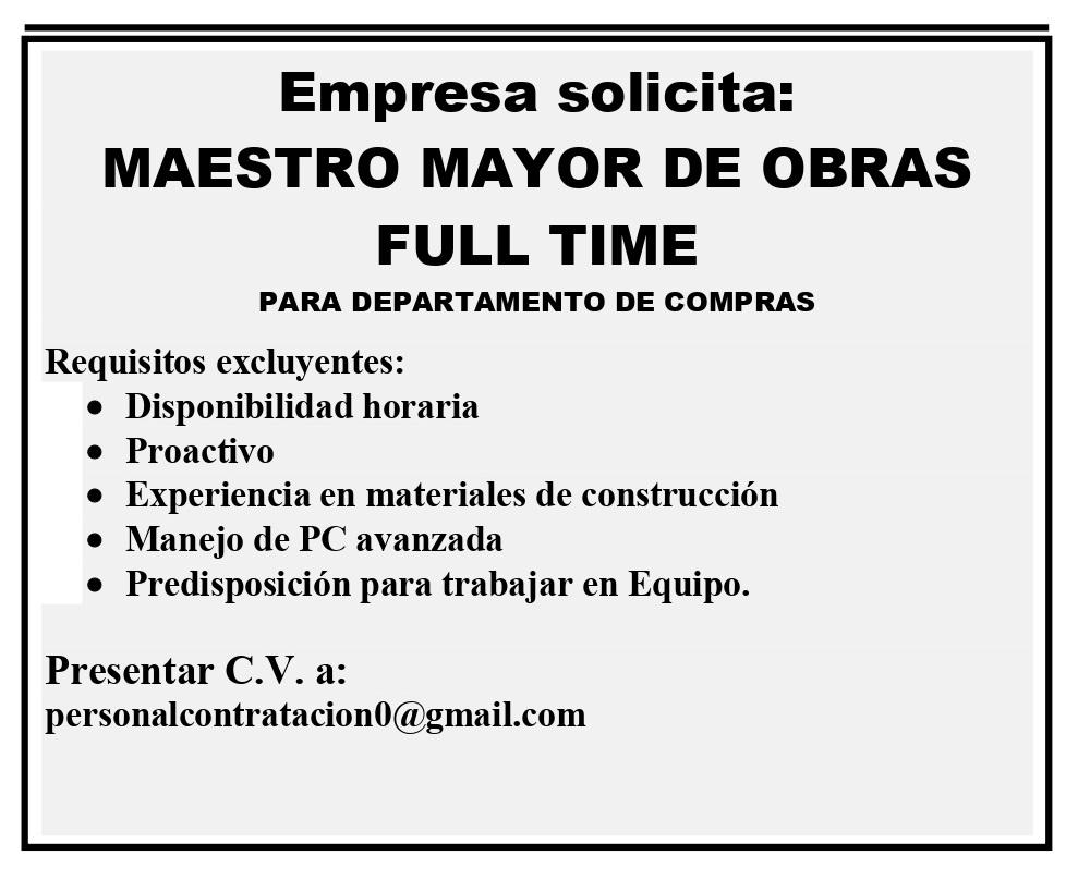Maestro Mayor de Obras